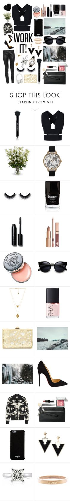 """""""Work it! #104"""" by worldofflowers ❤ liked on Polyvore featuring Marc Jacobs, STELLA McCARTNEY, New Growth Designs, Olivia Burton, Butter London, Bobbi Brown Cosmetics, House of Harlow 1960, NARS Cosmetics, Sondra Roberts and Beats by Dr. Dre"""