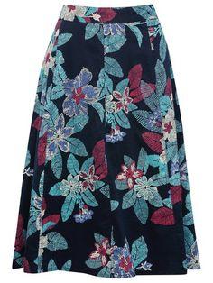 M&Co. Floral print a-line skirt