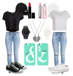 """Untitled #7"" by joliexjacques on Polyvore featuring Converse, H&M, Neff, Nixon, Pieces, Vince Camuto, Lord & Berry and Christian Dior"