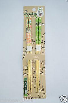 My Neighbor Totoro Chopsticks 21cm SET For Lunch Bento Box Studio Ghibli BF