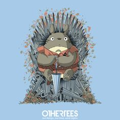 """""""The Umbrella Throne"""" by saqman Shirt, Sweatshirt, Hoodie and Tank Top on sale until 22 July on othertees.com Pin it for a chance at a FREE TEE! #totoro #gameofthrones"""