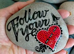 Diy painted rocks ideas with inspirational words and quotes (92)