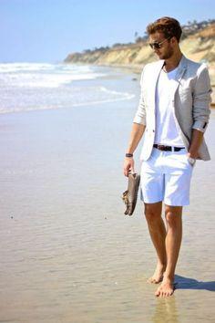 Beach Wedding Groom Attire, Beach Wedding Guests, Beach Attire, Beach Groom, Wedding Suits, Beach Outfits, Party Wedding, Boat Wedding, Outfit Beach