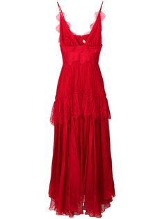 Shop Maria Lucia Hohan lace plunge dress