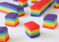 Rainbow Fudge (easy white chocolate fudge)