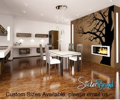 Vinyl Wall Decal Sticker Large Spooky Tree #AC122 | Stickerbrand wall art decals, wall graphics and wall murals.