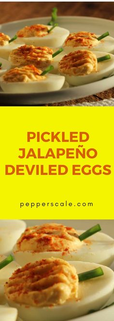 A little extra bite and tang…You can bet you'll be going back for seconds of these pickled jalapeño deviled eggs Jalapeno Deviled Eggs, Deviled Eggs Recipe, Spicy Recipes, Appetizer Recipes, Appetizers, Chicken Wings Spicy, Stuffed Hot Peppers, Hot Sauce, Food Hacks