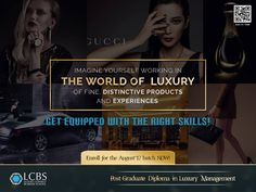 Imagine yourself working in the world of Luxury of Fine, Distinctive Products and Experience.Get equipped with the right skills! Enroll for Post Graduate Diploma in Luxury Management, August'17 batch now!  Visit :http://lcbs.edu.in/post-graduate-diploma-in-luxury-management-india-lcbs-ium-pgdlm-lcbs-ium/ #LuxuryEducation #LuxuryBrandManagement #Education ‪#BSchool #Diploma #College #University #PostGraduate #Luxury
