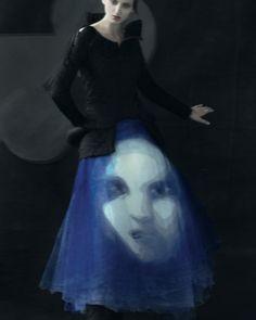 Georgina Stojiljkovic / AnOther Magazine, Fall 2011, 'The Singing Silhouette', ph. Sarah Moon