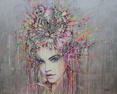 "Saatchi Online Artist: Lykke Steenbach Josephsen; Acrylic 2013 Painting ""Courage"" my favourite style of art!"