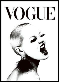 VOGUE svartvit (30x40cm) poster