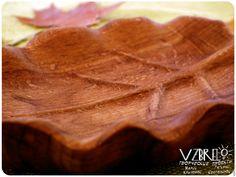 """Купить Тарелочка деревянная """"Лист"""". - рыжий, бук, коричневый, дерево, деревянная тарелка, резная тарелка"""