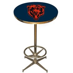 We love the look and quality of this Retro-style Chicago Bears pub table from…