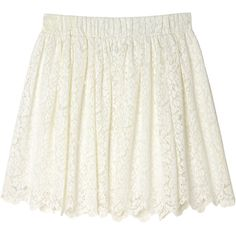 My skirt (165 DKK) ❤ liked on Polyvore featuring skirts, bottoms, saias, faldas, wondrous white, convertible skirt, lace skirt, summer skirts, white summer skirts and church skirts