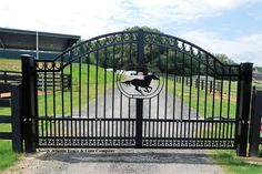 Image result for running horse entrance gate