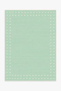 Dot Border Mint Rug