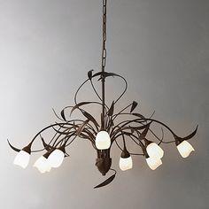 Buy John Lewis Yasmin Ceiling Light, 10 Arm Online at johnlewis.com