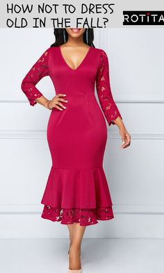 9b161673494b1 Lace Panel Wine Red Zipper Back Sheath Dress .From parties and formal  dinners to work events and casual summer afternoons,our women's dress  selection ...
