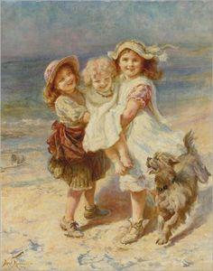 Frederick Morgan (1847-1927) On the beach