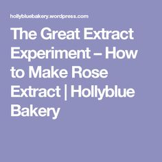 The Great Extract Experiment – How to Make Rose Extract | Hollyblue Bakery