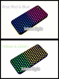 Hearts Gradient Color Pattern iPhone 4/4S 5/5S Slim by ATHiNGZ, $12.99