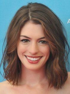 Anne Hathaway Short hair vs Long Hair  Morably