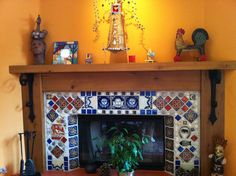 Mexican Style Fireplace | Add a little flavor to your home with a ...