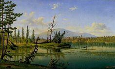 Raquette Lake by Levi Wells Prentice, 19th century, oil on canvas.