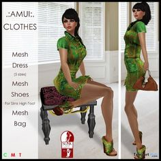 Lola Outfit Green Teleport Hub Group Gift by AMUI