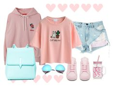 """""""pink and blu"""" by ekaterina-stepura on Polyvore featuring мода, New Look, adidas, Alexander Wang, WithChic, SW Global и Karen Walker"""