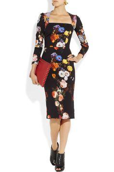 Dolce & Gabbana|Floral-print stretch-crepe dress