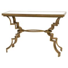 Gaston Mirrored Console Table