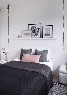 24 Trendy Bedroom Design Small Room How To Decorate Simple Bedroom Decor, Trendy Bedroom, Modern Bedroom, Contemporary Bedroom, Simple Bedrooms, White Bedroom, Dream Bedroom, Bedroom Wall, Bedroom Storage