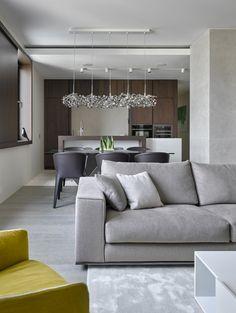 Modern apartment interior by Alexandra Fedorova