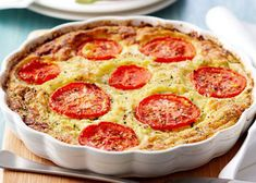 Who doesn't love a quiche! This is a quick easy quiche to make and doesn't require pastry. In fact I call it magic quiche because it forms its own crust! Quiche Recipes, Ww Recipes, Light Recipes, Cooking Recipes, Healthy Recipes, Recipies, Breakfast Pie, Easy Quiche, Brunch