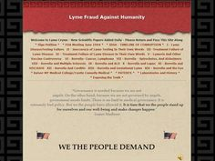 Lyme Fraud Against Humanity by Freethinker via authorSTREAM Power Point Presentation