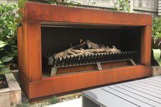 GD60 - Freestanding outdoor flueless gas fire with coreten cabinet