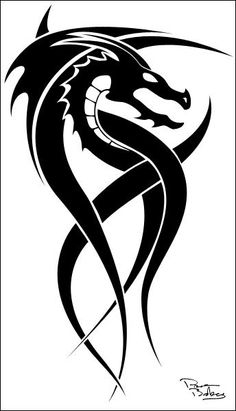Tribal Dragon Tattoo Sample