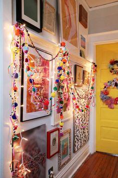 """Year round """"ridiculously awesome"""" garland (made from straws)."""