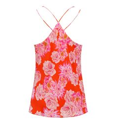 Sienna Printed Silk Strappy Cami Red Print - Womens Fashion | Forever New