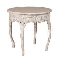 Round Shabby Chic Accent Table