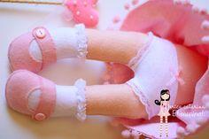 Uma Boneca Princesa de Feltro toda feita a mão.