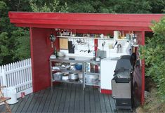 Slik bygger du et overdekket utekjøkken Outdoor Living, Outdoor Decor, Kitchens, Home Decor, Outdoor Cooking, Fine Dining, Outdoor Life, Decoration Home, Room Decor