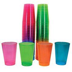 Northwest Enterprises Hard Plastic 10-Ounce Party Cups and Tall Tumblers, Assorted Neon, 50-Count Northwest Enterprises http://www.amazon.com/dp/B0044XY4UQ/ref=cm_sw_r_pi_dp_oP-7tb05SSF94