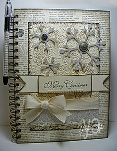 Altered Christmas Journal - Stampin' Up!