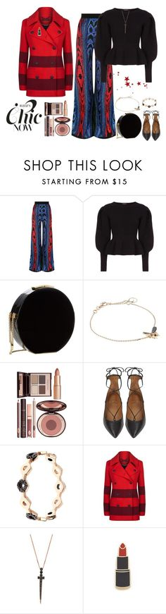 """A Day In December"" by freida-adams ❤ liked on Polyvore featuring Balmain, Burberry, Elie Saab, Bee Goddess, Charlotte Tilbury, Aquazzura, rag & bone and Georgia Perry"