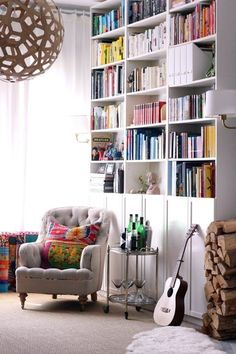 For a book lover, there's nothing more beautiful, and more satisfying, than a huge wall of built-in bookcases >>> Click image to read more details. #urbanhomedecor