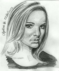 Natalie Portman Sketch Card by AngelinaBenedetti