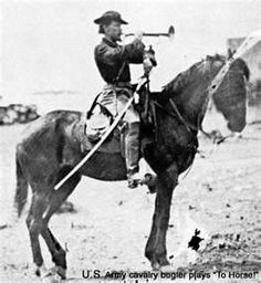 Bugler from Custer's Michigan cavalry during Civil war. American Civil War, American History, Battle Of Little Bighorn, George Armstrong, Civil War Books, Union Army, Historical Pictures, Antique Pictures, American Frontier