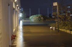 Hurricane Sandy flooding Brooklyn Bridge Park.     hurricane sandy